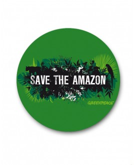 Chapa Greenpeace Save the Amazon