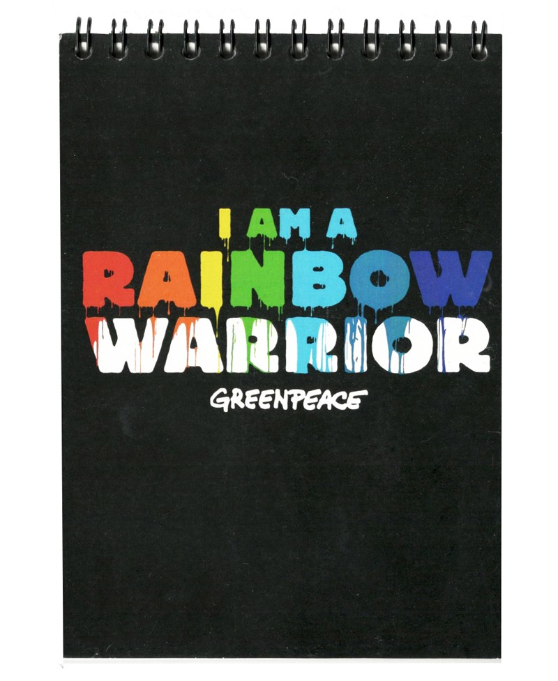 Libreta Greenpeace Rainbow Warrior