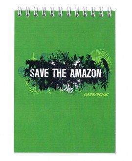 Libreta Greenpeace Save the Amazon
