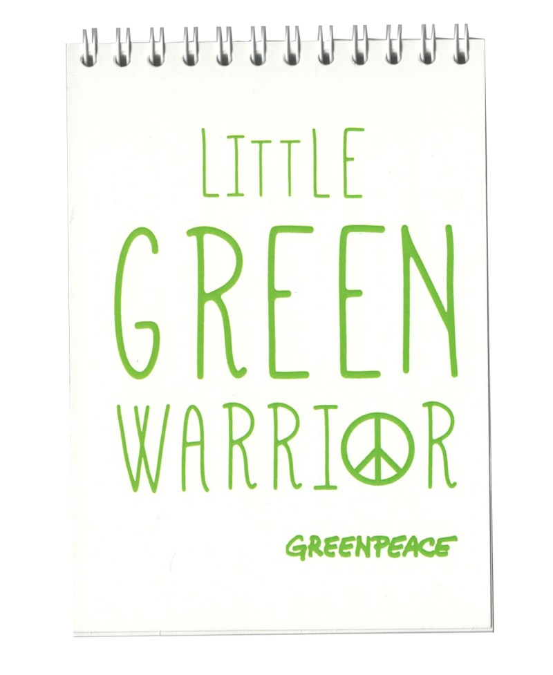 Libreta little green warrior Greenpeace