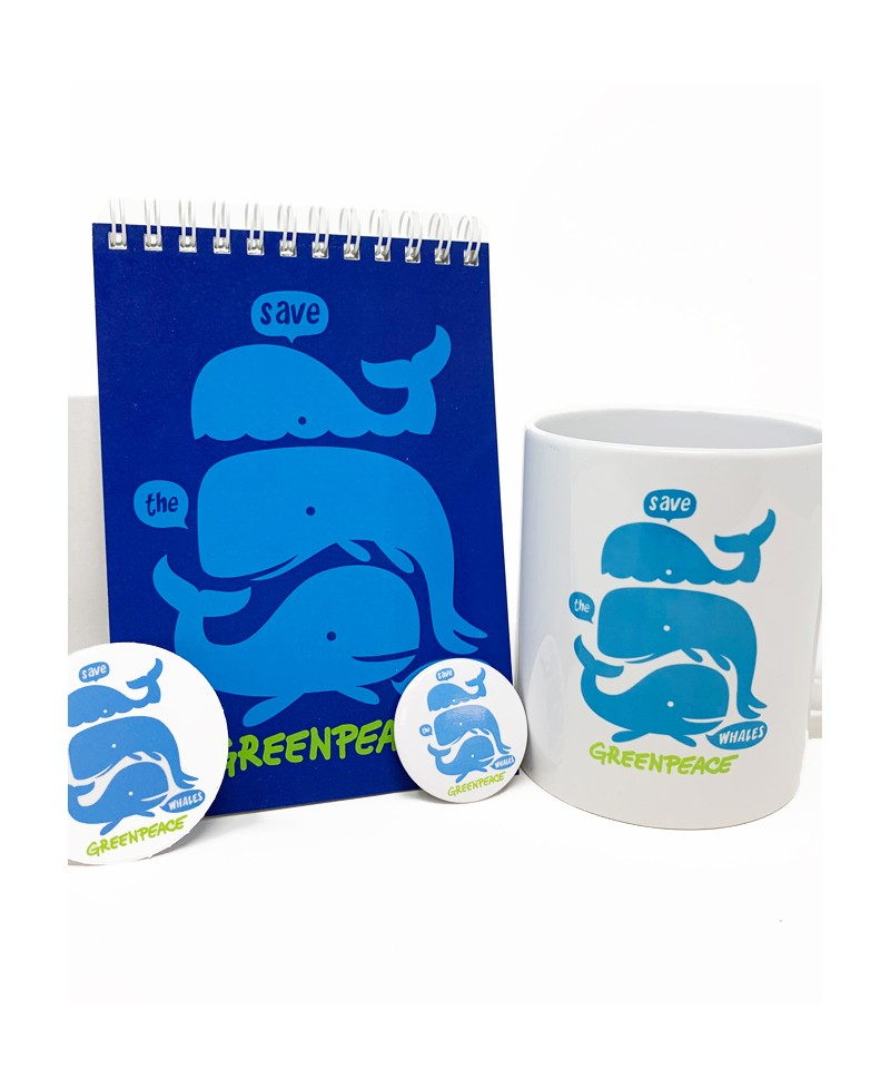 Regalo original pack ballenas Greenpeace